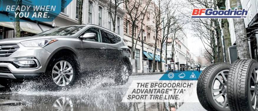 The BFGoodrich advantage T/A sport tire line. Ready when you are. Opens a Dialog