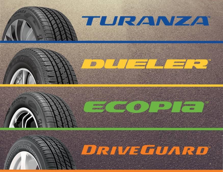 Bridgestone - Turanza, Dueler, Ecopia, Driveguard Opens a Dialog